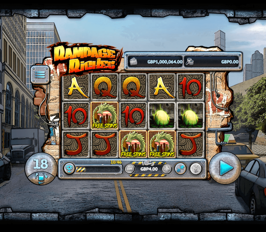 Rampage Riches Slots Reels