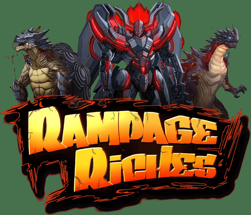 Rampage Riches Slot Logo Slots Racer