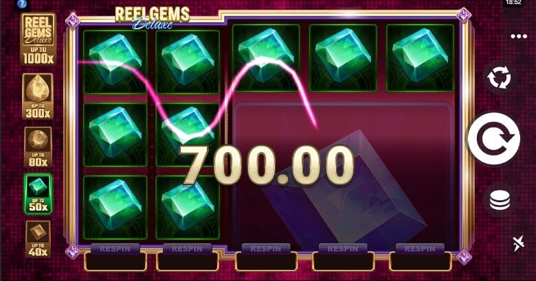 Reel Gems Deluxe Slots Gameplay