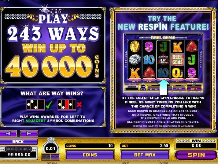 Reel Gems Deluxe Slots Bonus Features