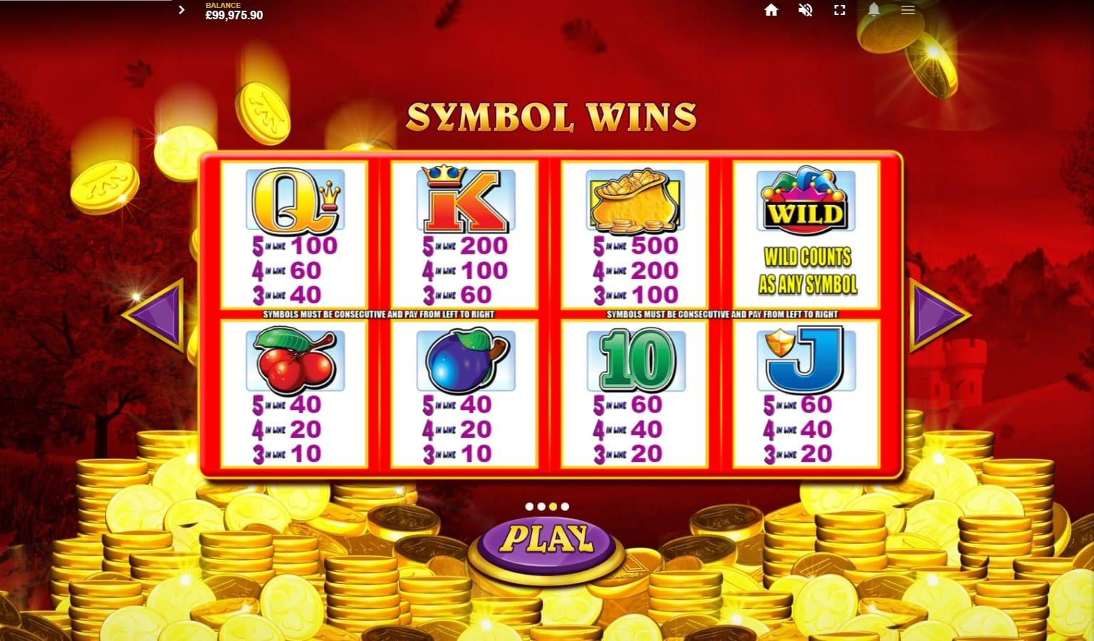 Reel King Mega Slot Symbols