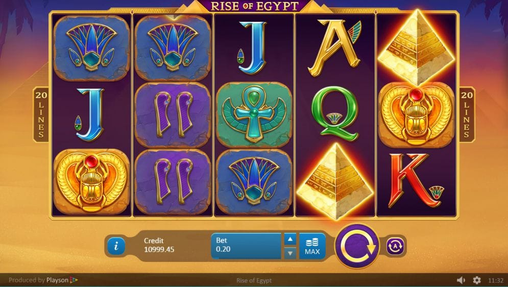 Rise of Egypt Slots Online
