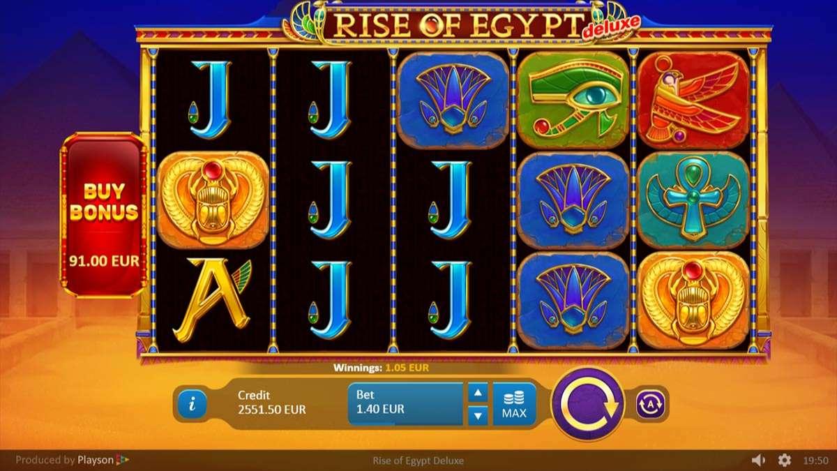 Rise of Egypt Deluxe Slot Reels