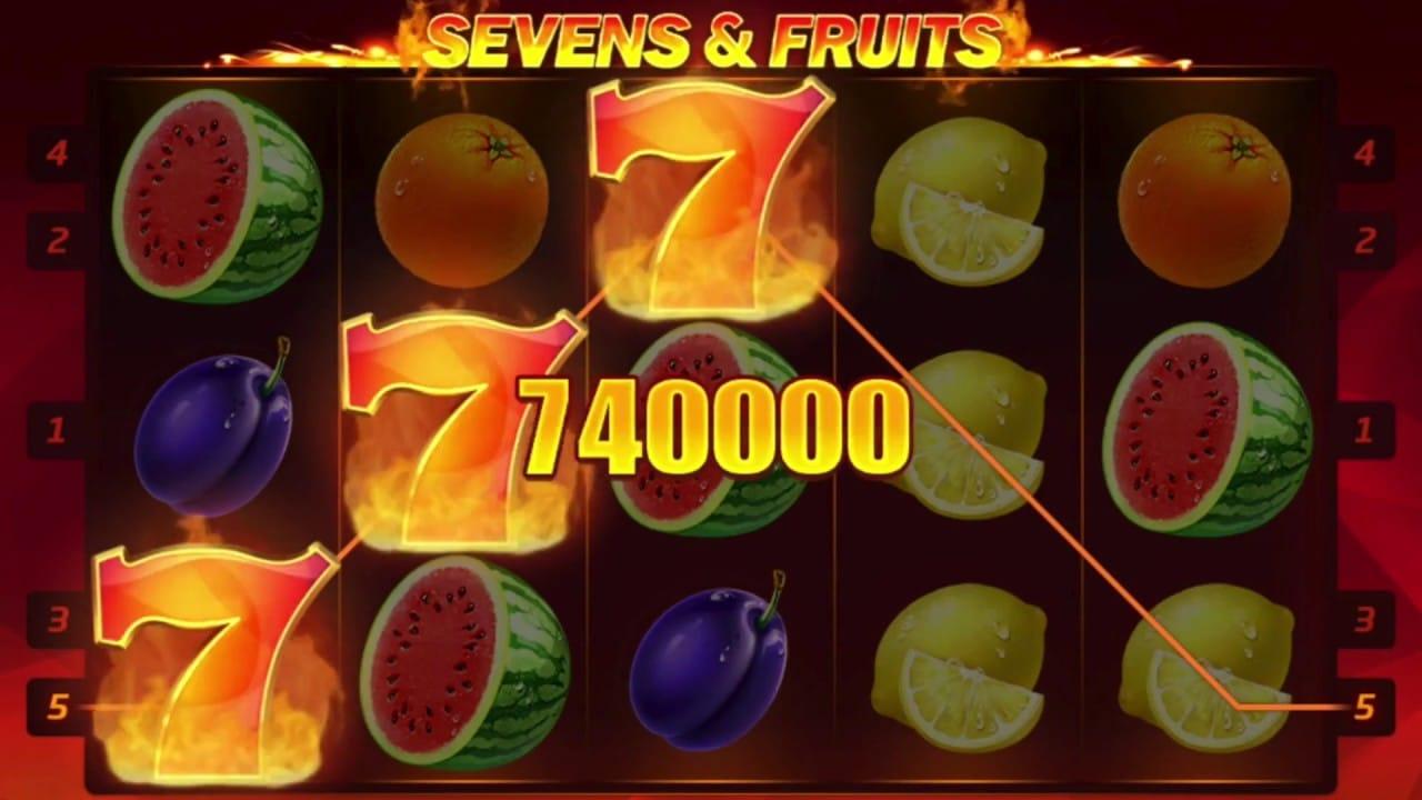 Sevens and Fruits Big Win