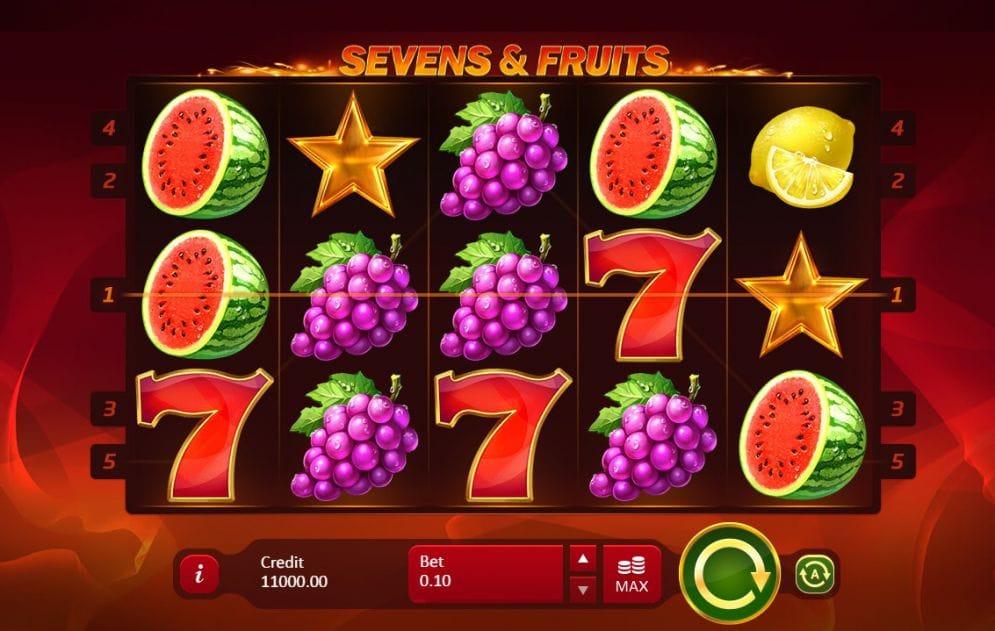 Sevens and Fruits Slots UK