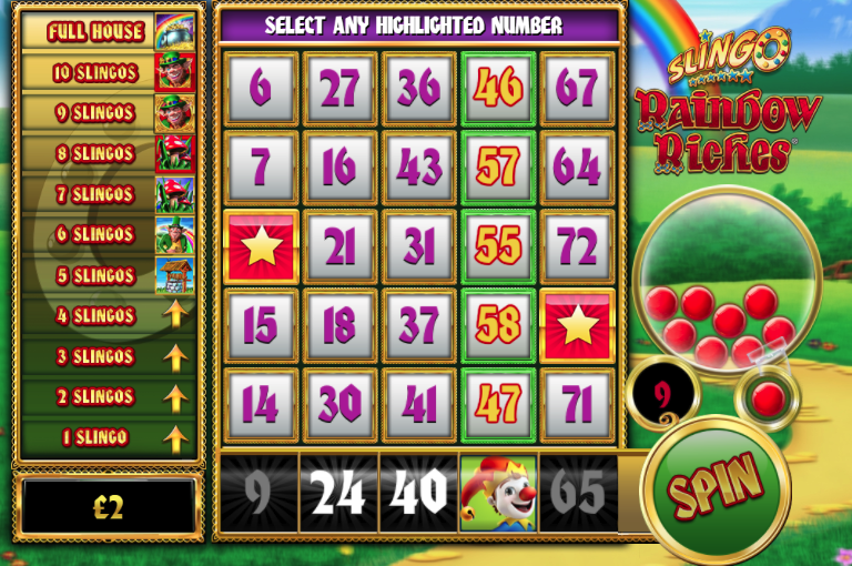 Slingo Rainbow Riches Slots Game