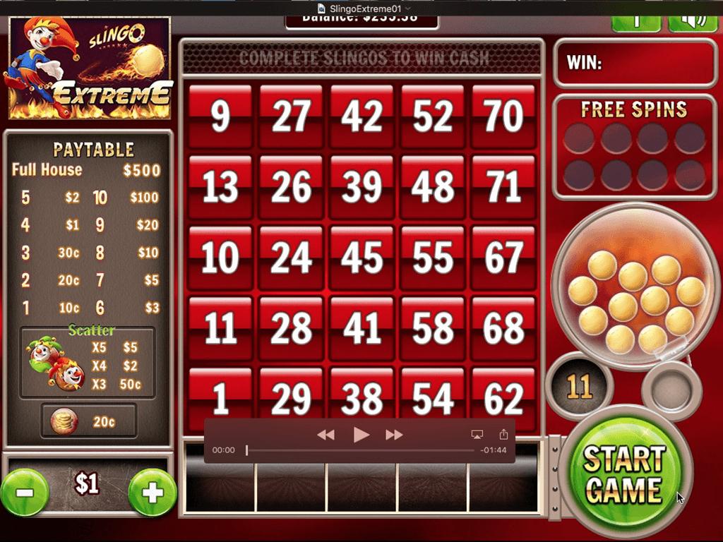 Slingo Extreme Slots Game