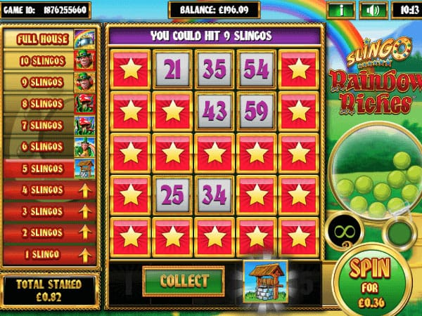 Slingo Rainbow Riches Slot Game
