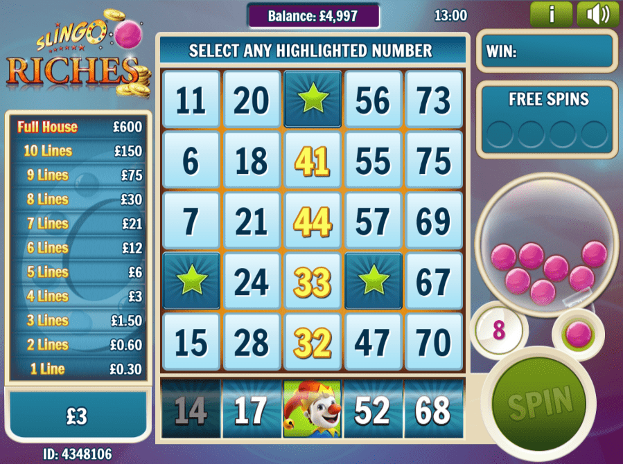 Slingo Riches Slot Game