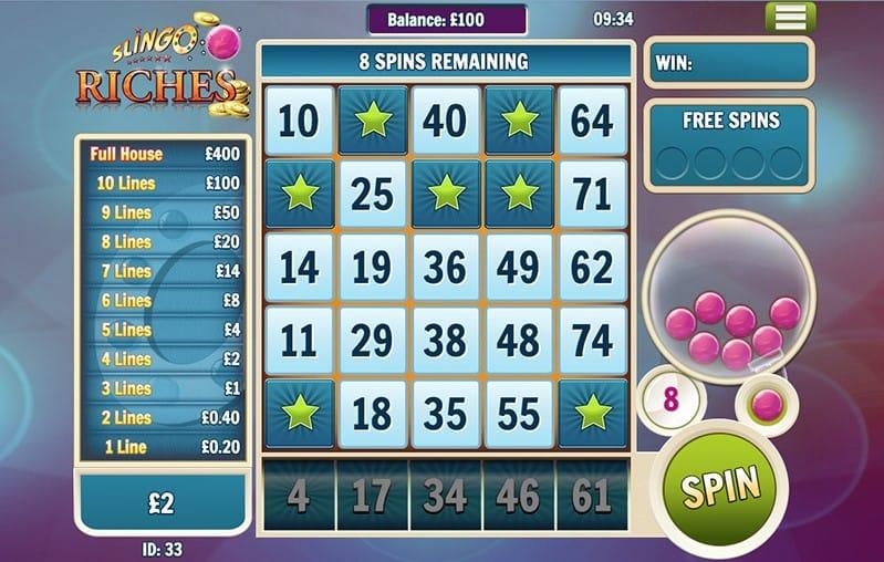 Slingo Riches Slots Online
