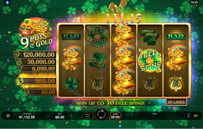 9 Pots of Gold Free Slots