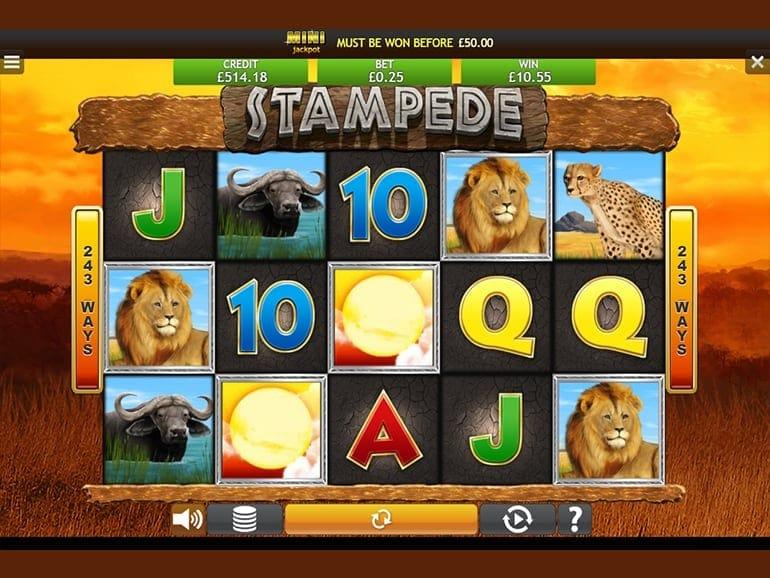 Stampede Jackpot Slots Reels