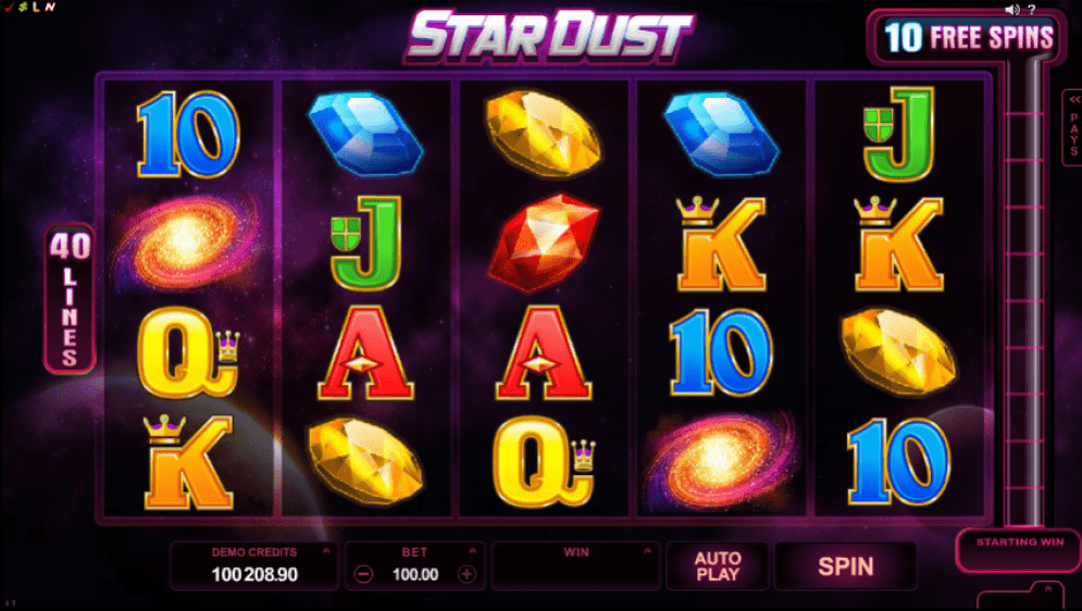 Stardust online slot gameplay
