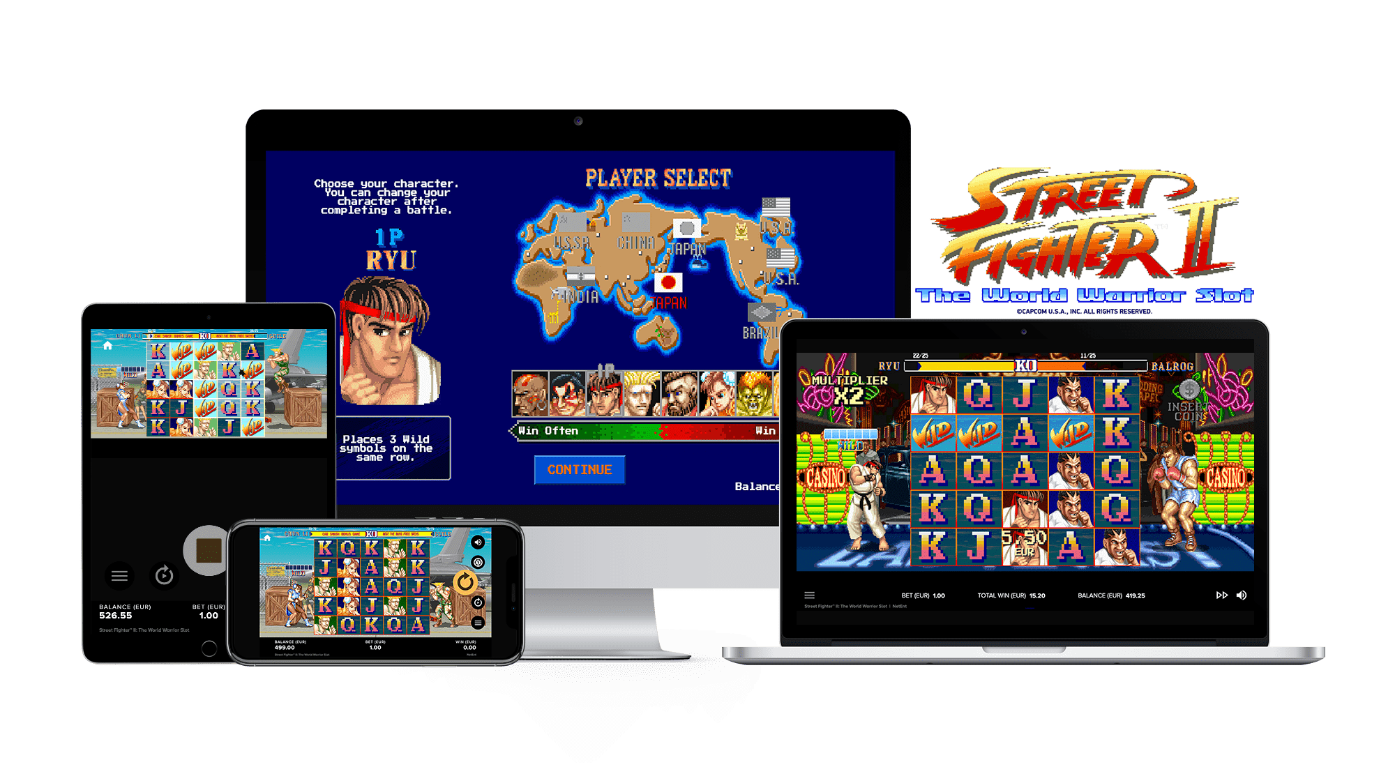 Street Fighter 2 The World Warrior Mobile slots