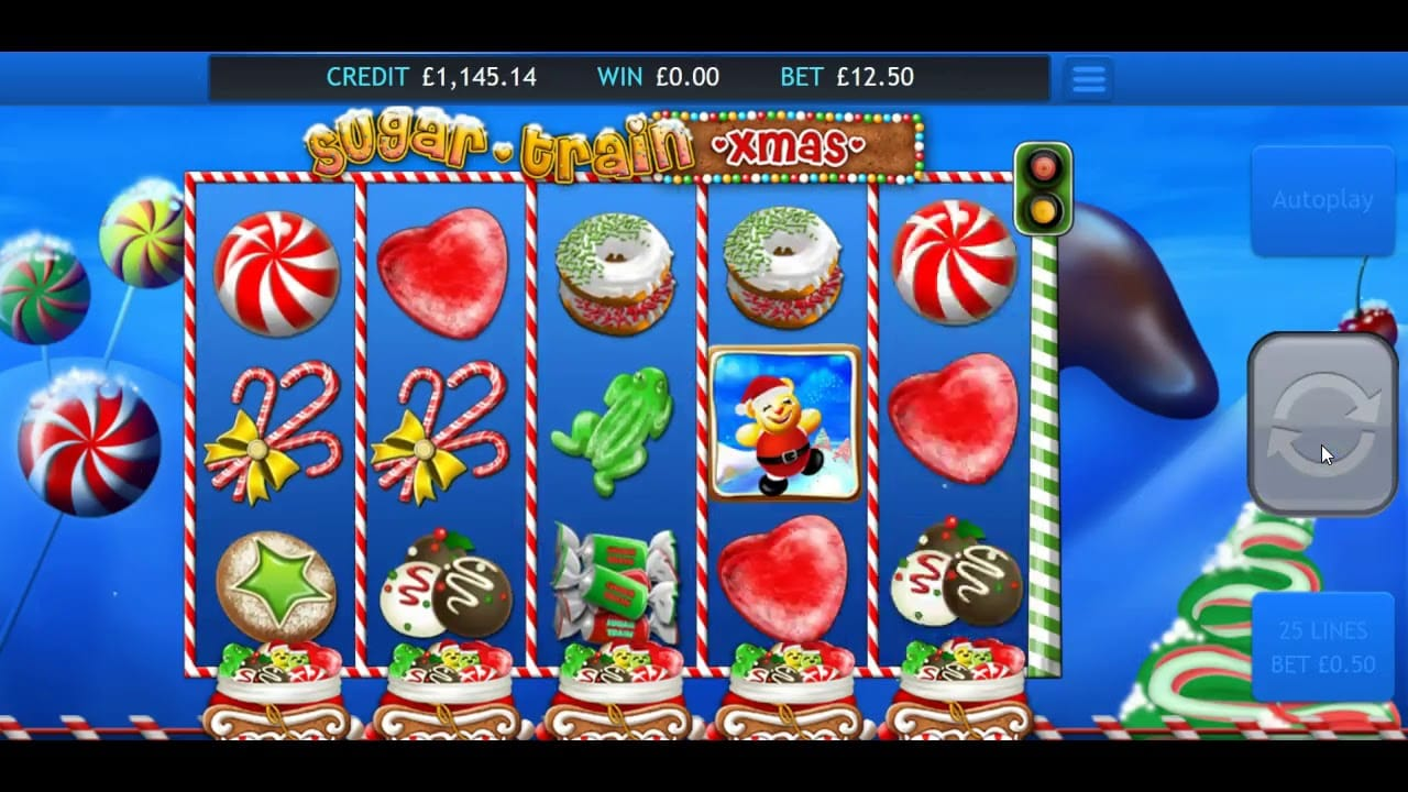 Sugar Train Xmas Jackpot Slot Gameplay