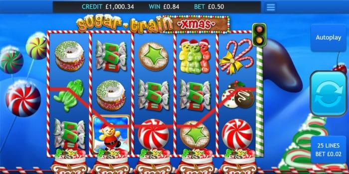 Sugar Train Xmas Slot Gameplay