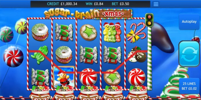 Sugar Train Xmas Jackpot Slots Reels