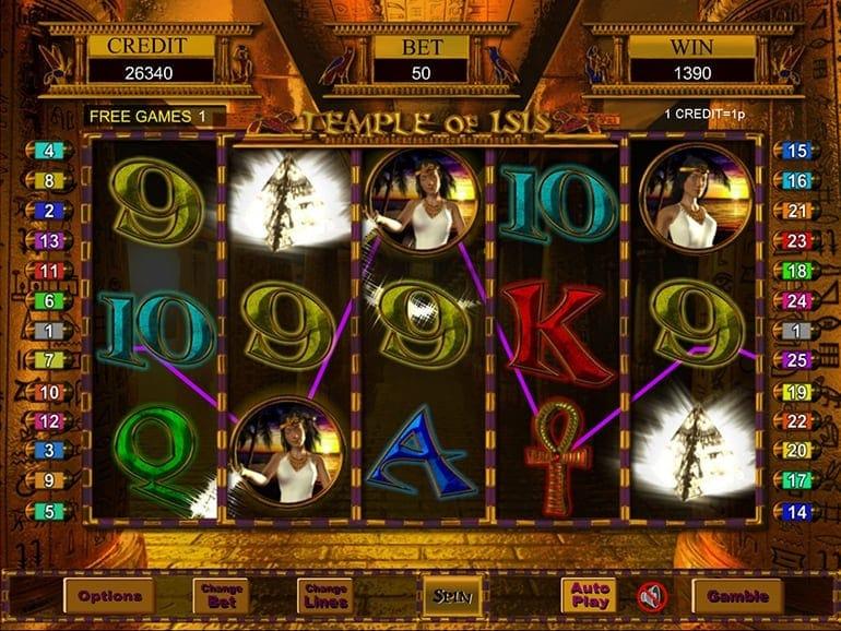 Temple of Iris Casino Game