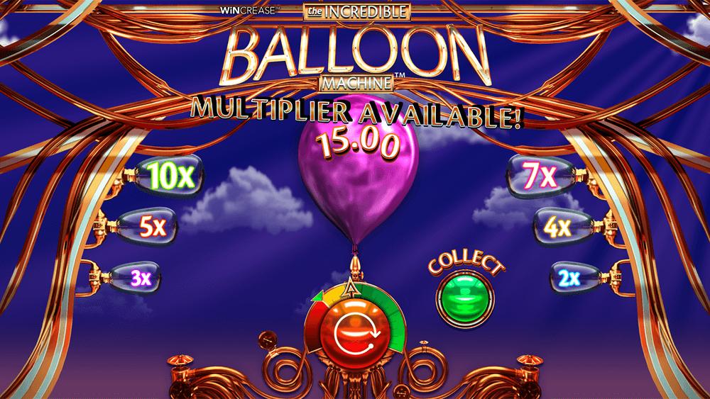 The Incredible Balloon Machine Casino Slots Bonuses