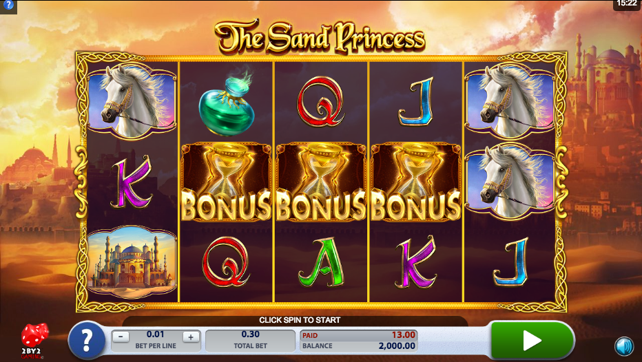 The Sand Princess Slots Game
