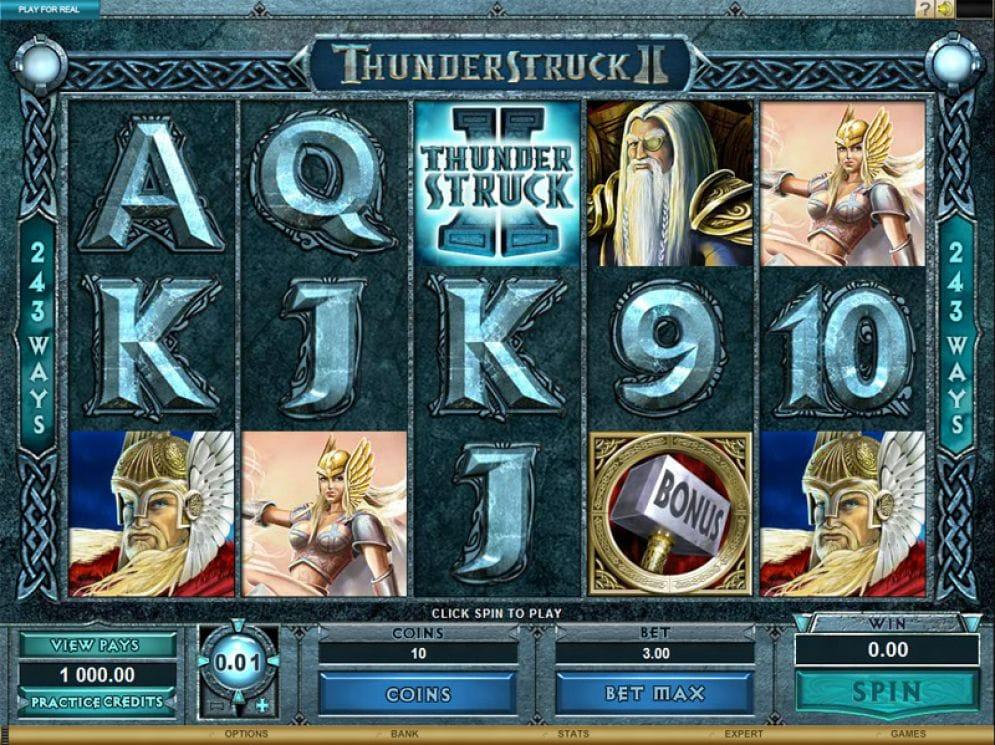 Thunderstruck II slot gameplay