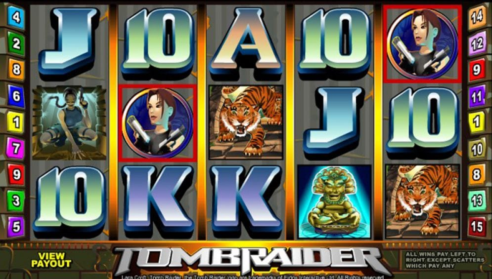 Tomb Raider Video Slot Gameplay