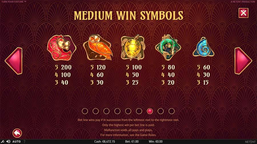 Turn Your Fortune Slot Symbols