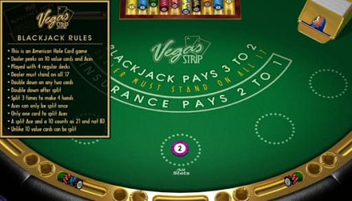 Vegas Strip Blackjack Casino Game