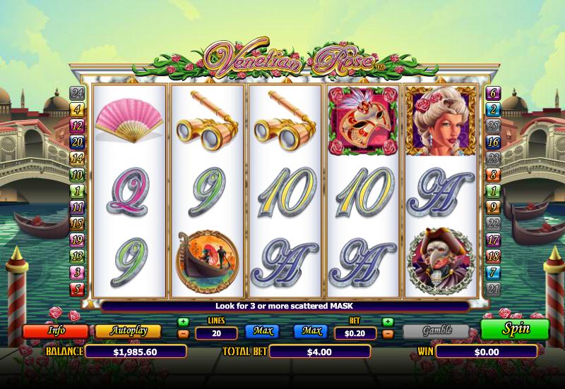 Venetian Rose Slot Game