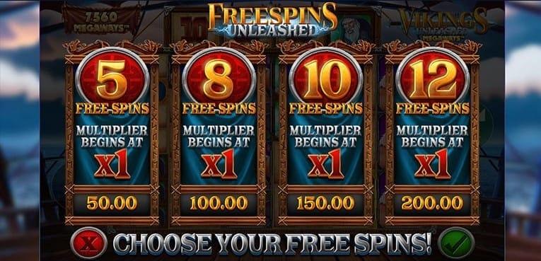 Vikings Unleashed MegaWays Slots Bonus Spins