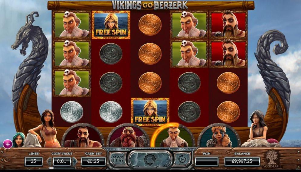 Vikings Go Berzerk slot gameplay