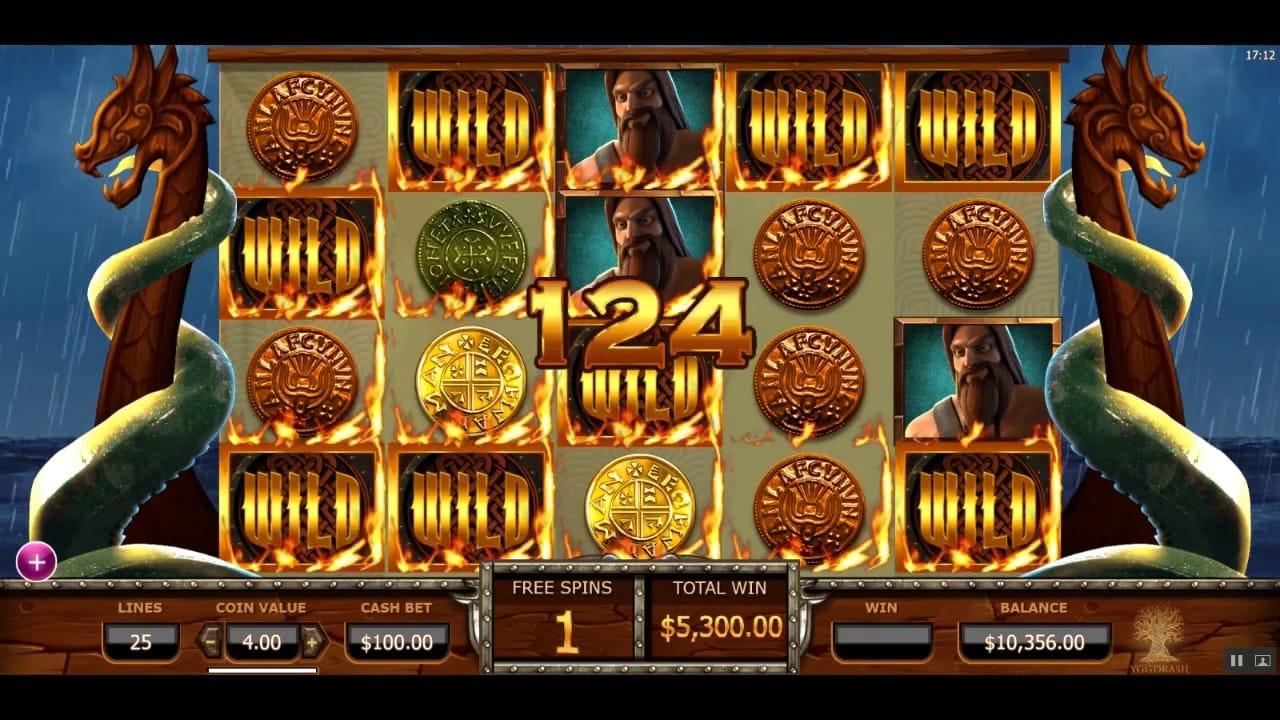 Vikings Go Wild casino gameplay