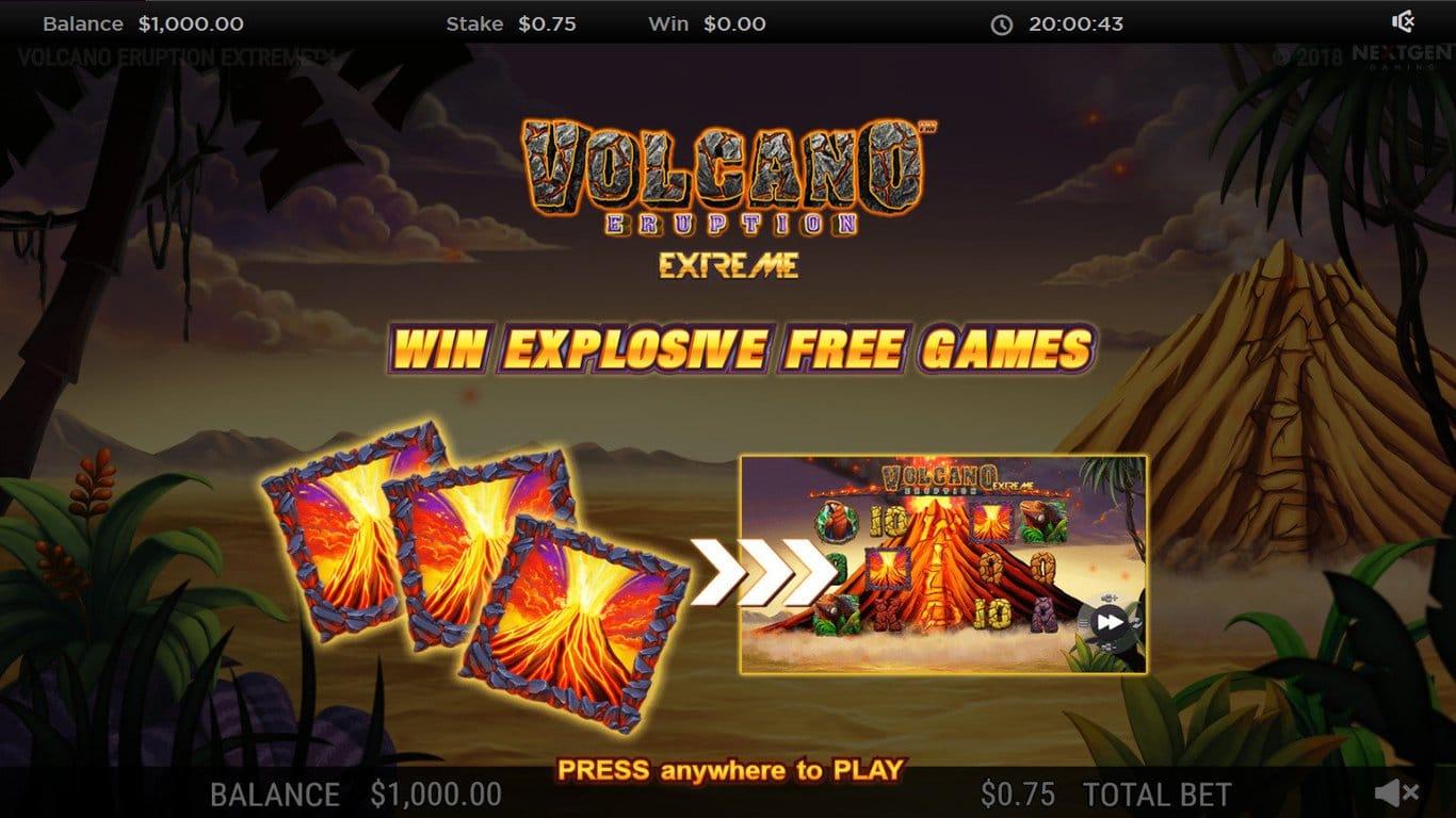 Volcano Eruption Extreme Slots Bonus Features