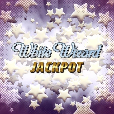 White Wizard Jackpot Slot Logo Slots Racer