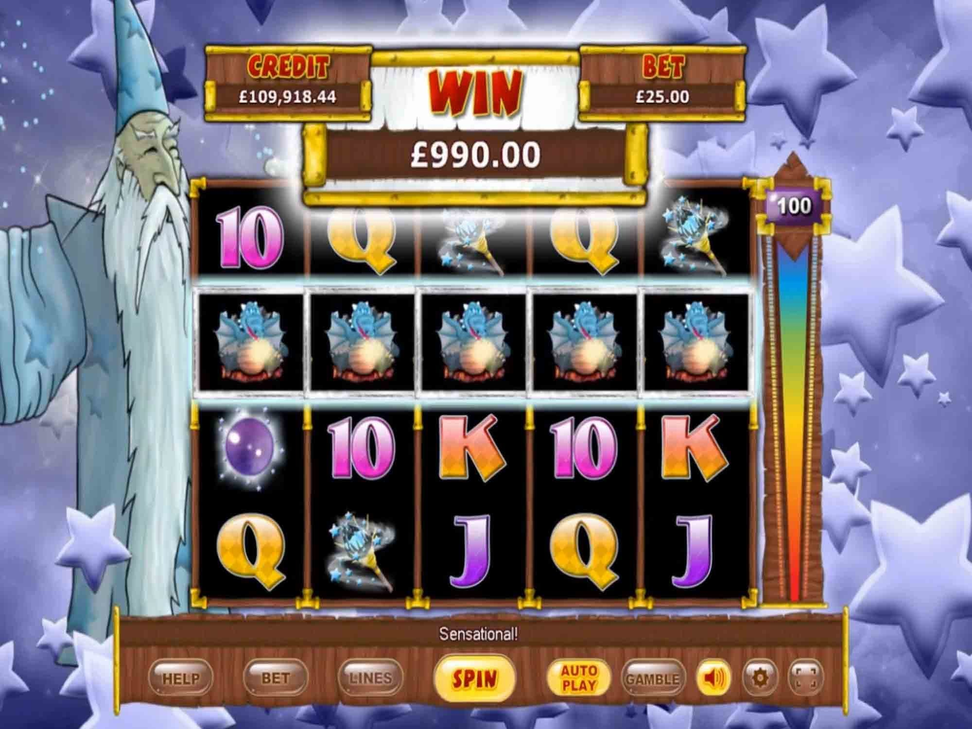 White Wizard Deluxe Slot Big Win