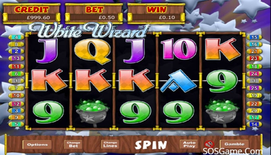 White Wizard Jackpot Slot Game Play
