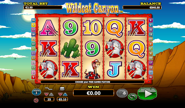 Wildcat Canyon Slot Gameplay
