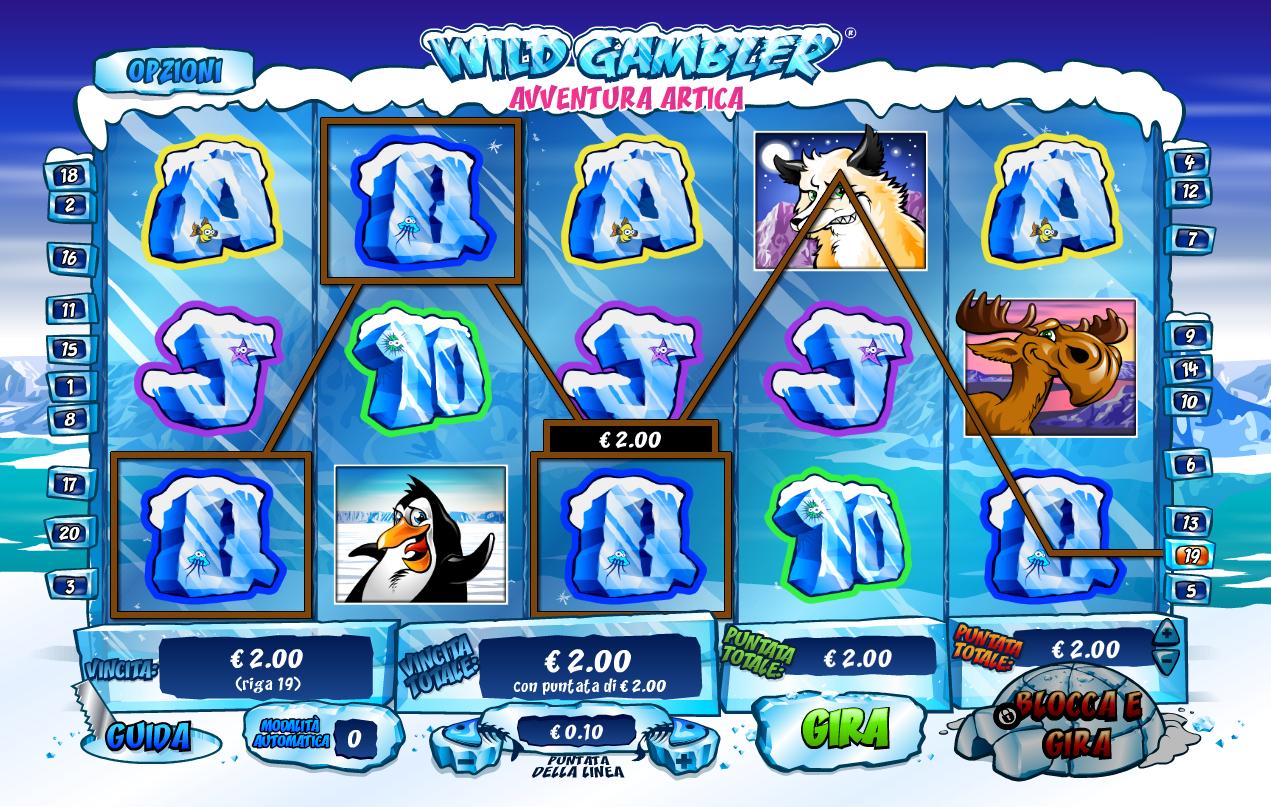 Wild Gambler Arctic Adventure Slot Reels