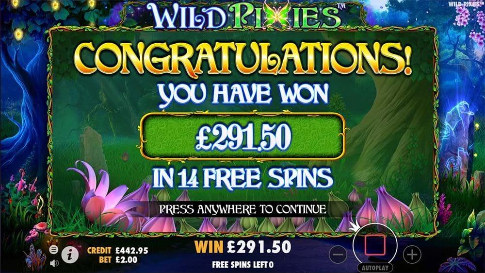 Wild Pixies Slot Big Win
