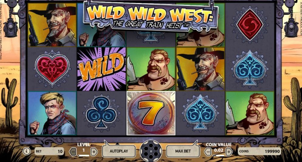 wild west train heist slot