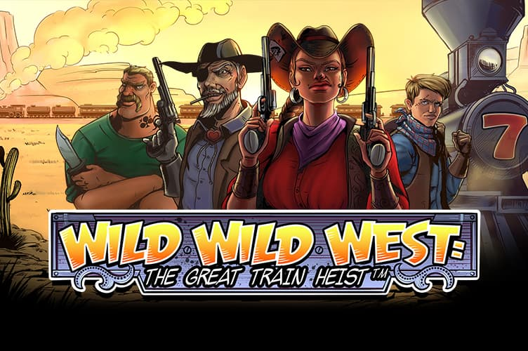 wild wild west train heist slots racer